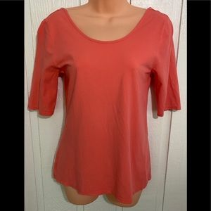 Cynthia Rowley low back shirt! Peach not orange!